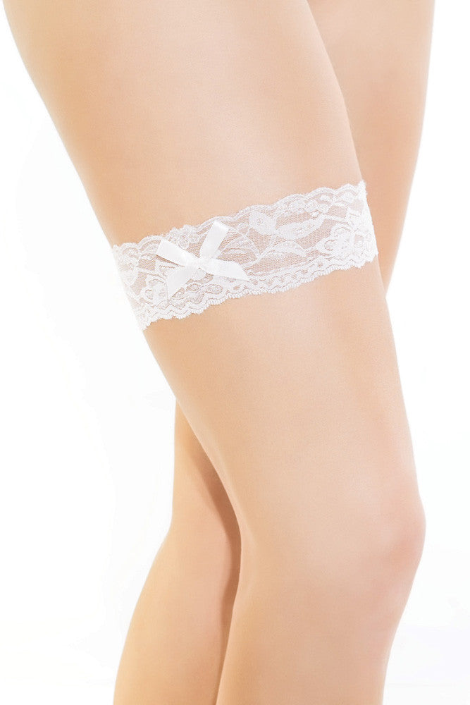 Lace Leg Garter with Bow