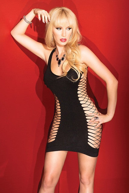 Fishnet Back Dress