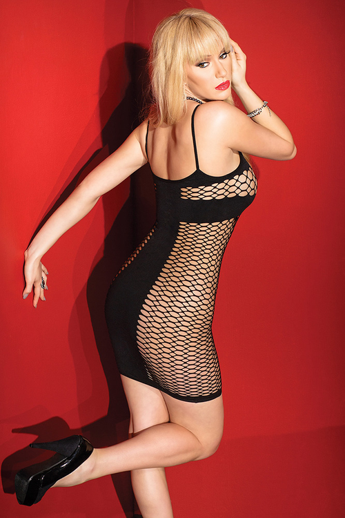 Fishnet Side Panels Dress