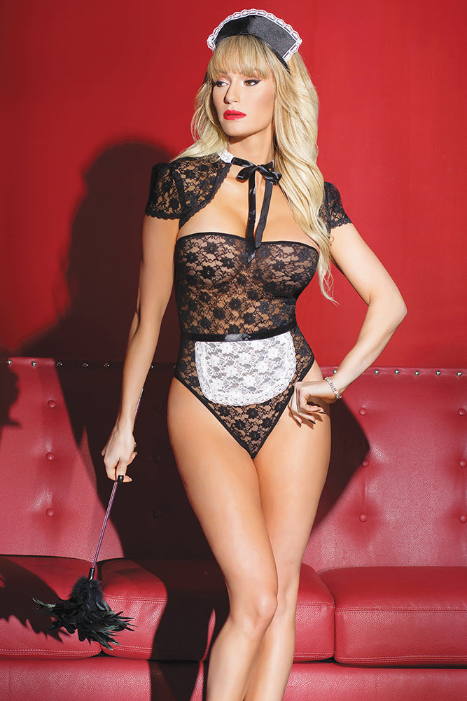 Strapless Lace Maid Teddy