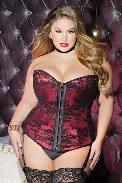 Diva Lace over Satin Corset