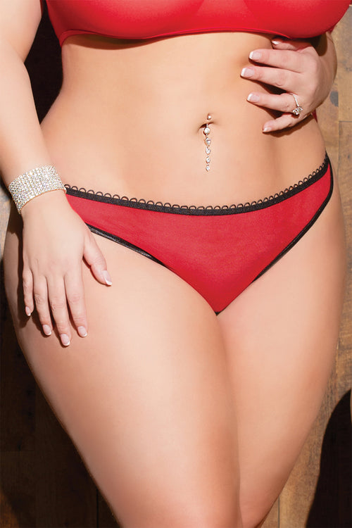 Mesh Crotchless Panty with Back Lace up
