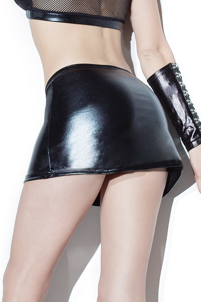 Wetlook mini Skirt
