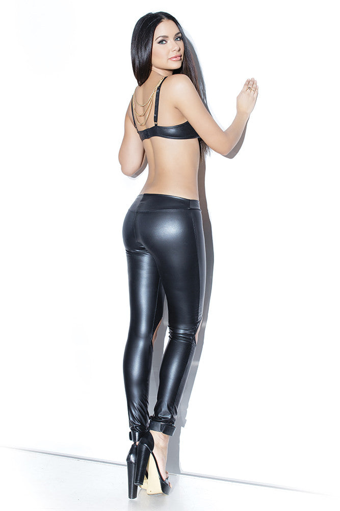 Matte Wetlook Pants