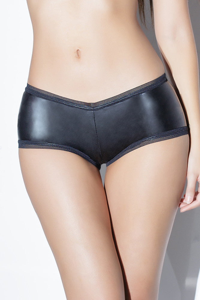 Diva Matte Wetlook Booty Shorts