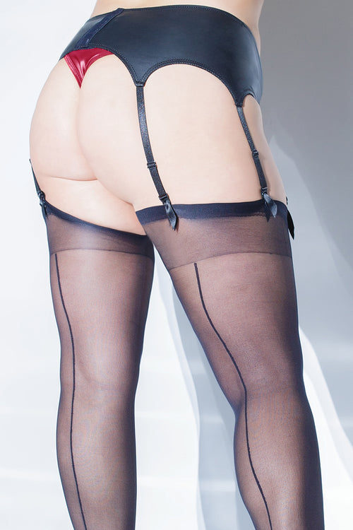 Matte Wetlook Garter Belt