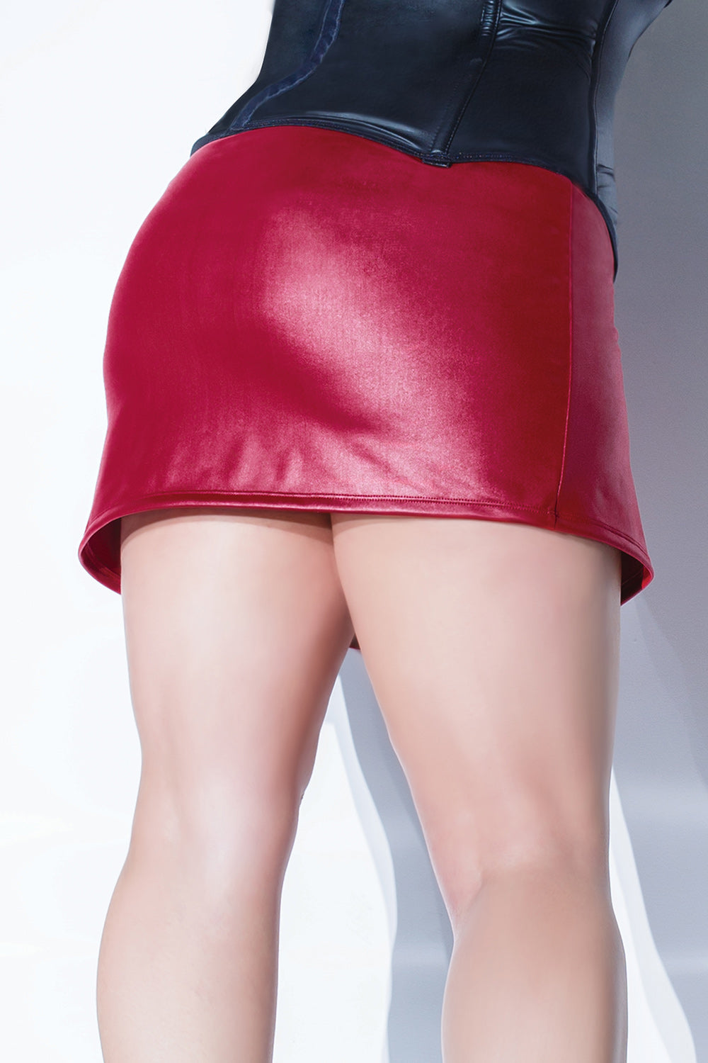 Matte Wetlook Mini Skirt