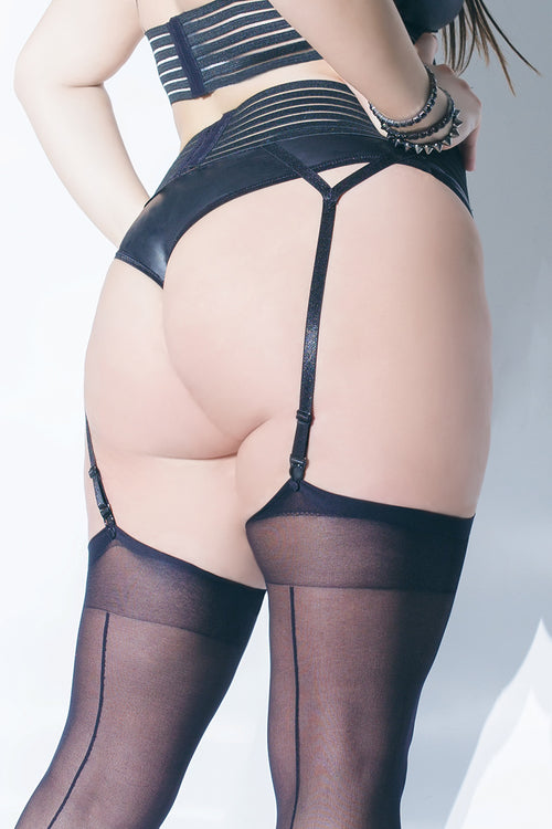 Striped Garter Belt