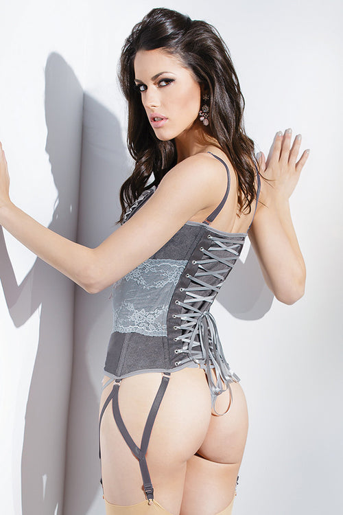 Stretch Knit Corset with Lace waist