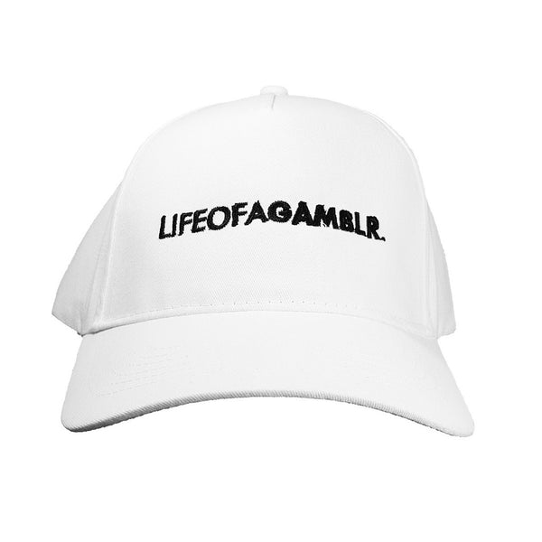 LIFEOFAGAMBLR. - White Classic Dad Cap