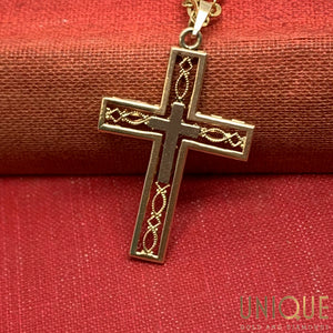 14k Cross Within Cross Charm