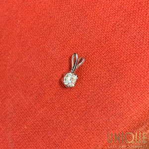 14k White Gold Small Diamond Charm