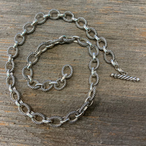Vintage Sterling Silver Link Necklace