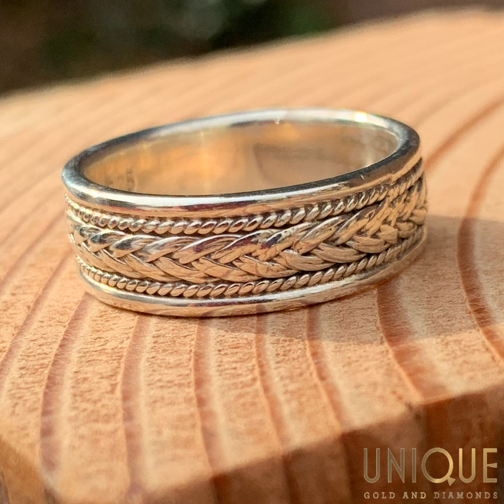 Vintage Sterling Silver Braided Band