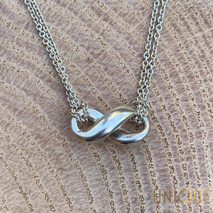 Vintage Sterling Silver Infinity Necklace