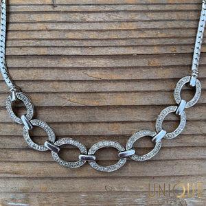 Vintage Sterling Silver Link Necklace - Default Title