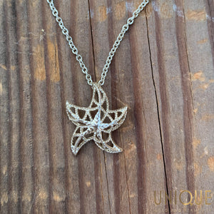 Vintage Sterling Silver Starfish Necklace