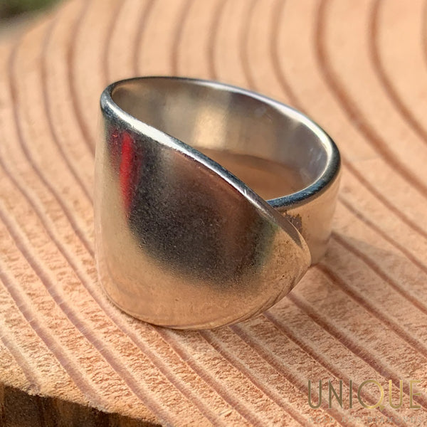 Vintage Sterling Silver Thick Wrap Ring