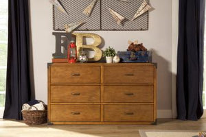 Providence Double Wide Dresser In Aged Oak Finish DISCONTINUED