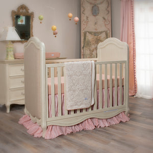 Maddie 3Pc Set (Includes quilt, pink & tan check sheet & crib skirt)