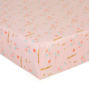 Audrey Fitted Sheet - Pink Floral