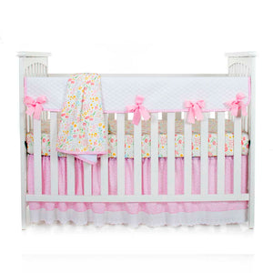 Flossie Convertible Crib Rail Protector - Long (Individual) (White Quilted)