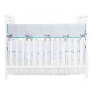Willow Convertible Crib Rail Protector - Long (Individual) (White Quilted)