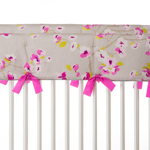 Blossom Convertible Crib Rail Protector - Short (Set of 2) (Floral)