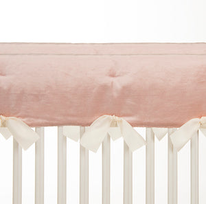 Anastasia Cream Convertible Crib Rail Protector - Short (Set of 2) (Pink)