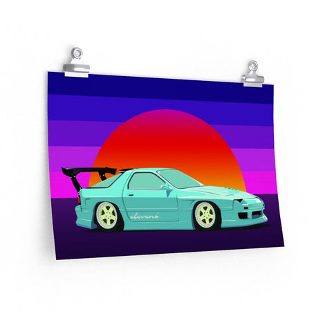 "FC3S Sunset - 18"" x 12"" on Poster - Premium Matte Paper"