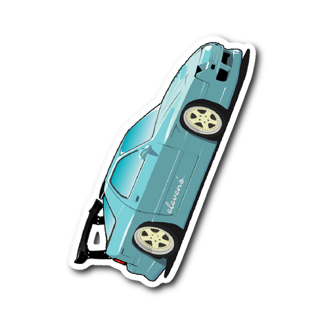 "Cartoon Mazda RX-7 [FC3S] 4"" Sticker"