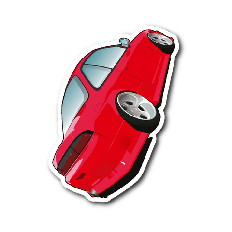 "Cartoon Nissan 240SX [S14] 4"" Sticker"
