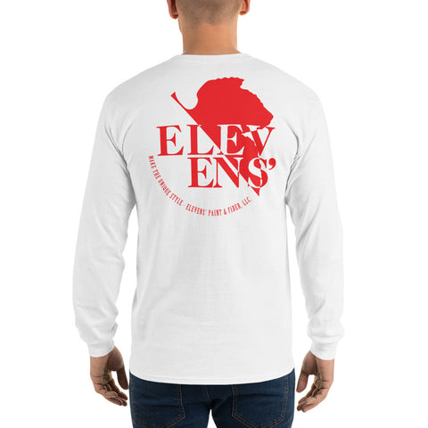 NERV Logo Long Sleeve T-Shirt - Red on Black or White