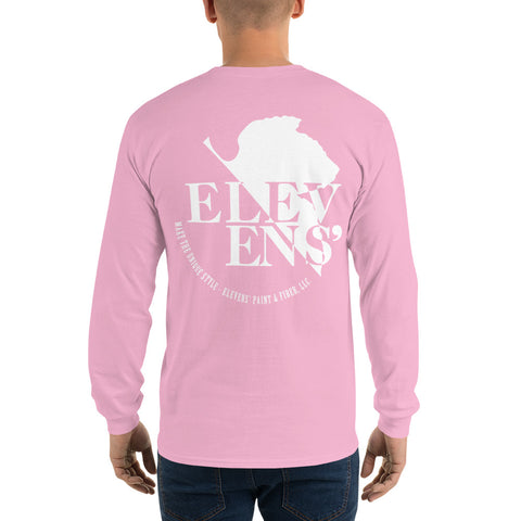 Elevens' NERV Long Sleeve T-Shirt - White Logo