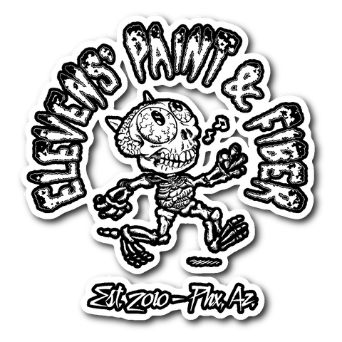 "Casual Dead Elevens' Paint & Fiber 3"" Sticker"