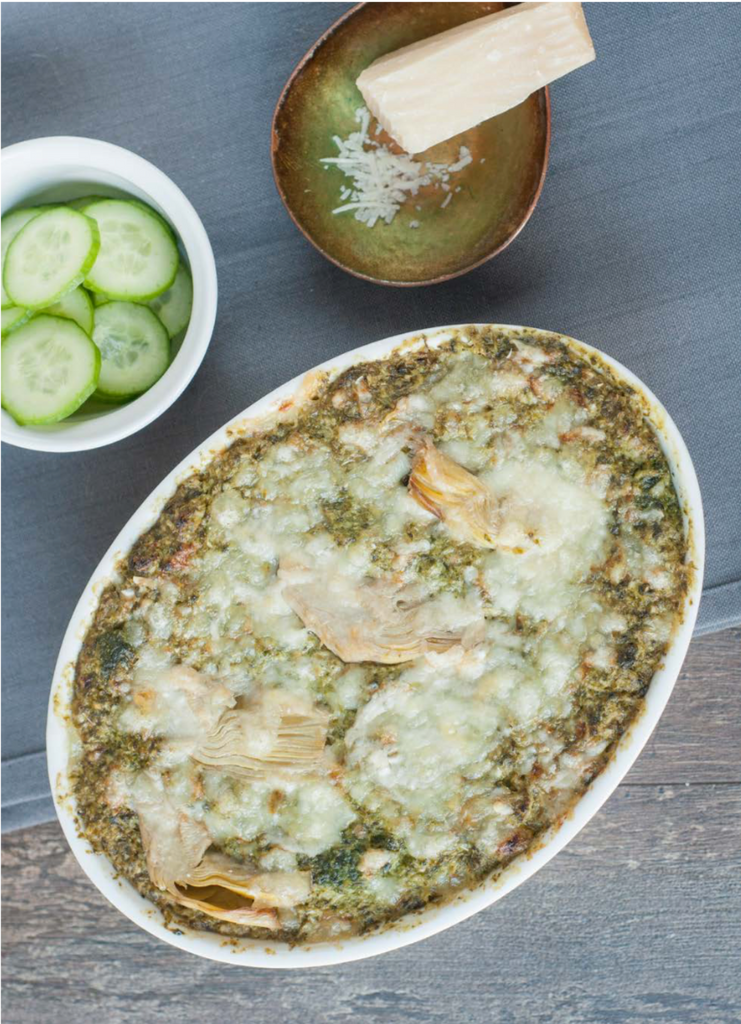 Spinach, Kale, and Artichoke Dip from Keto Essentials