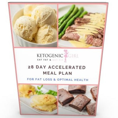 *NEWLY UPDATED: 28 Day Accelerated Meal Plan & Ketogenic Girl Challenge - PRINTED BOOK INCLUDED