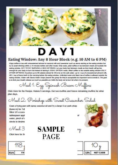28 Day Accelerated Meal Plan & Ketogenic Girl Challenge with Printed Book