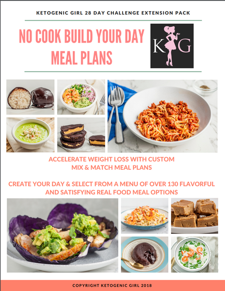 *NO COOK Build Your Day Custom Meal Plans