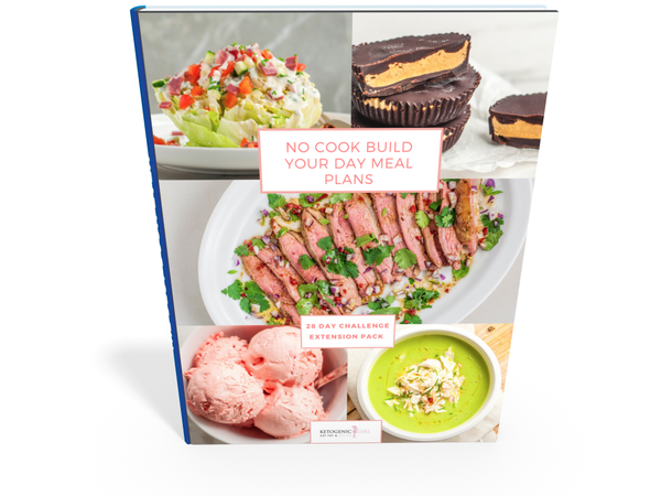 *NO COOK Build Your Day Custom Meal Plans WITH PRINTED BOOK