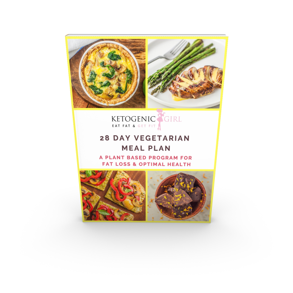 NEW! Vegetarian 28 Day Accelerated Meal Plan & Ketogenic Girl Challenge Membership - PRINTED BOOK INCLUDED