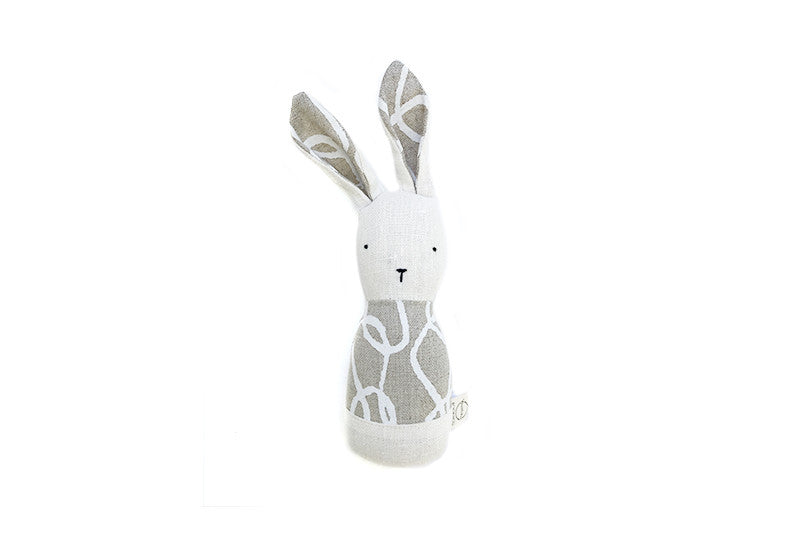 x bookhou lapin-hochet cable blanc