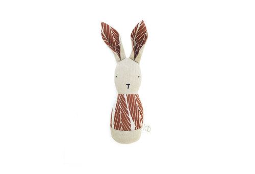 x bookhou lapin hochet leaves