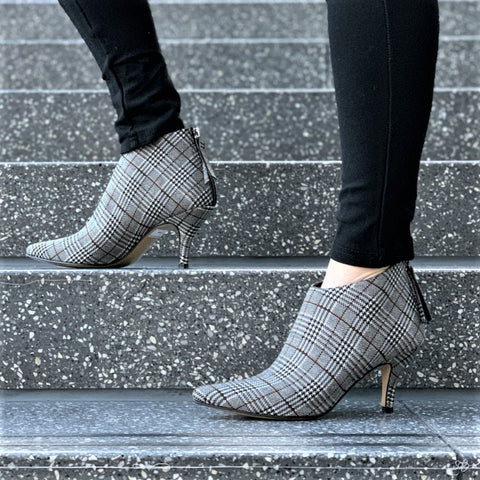 All Black Urban Fab Bootie Plaid