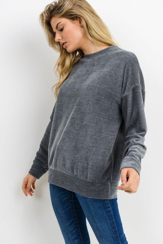 CHERISH CHENILE LONG SLEEVE