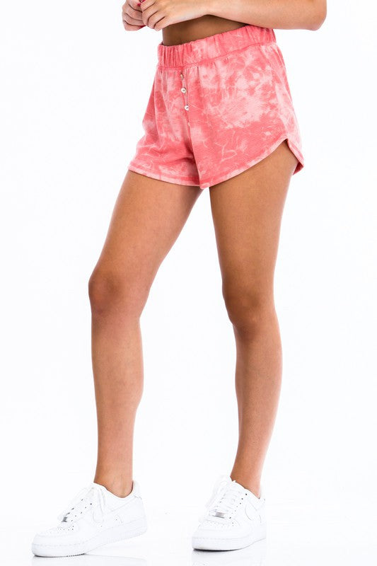 FAITH TIE DYE CASUAL SHORT*TWO COLORS