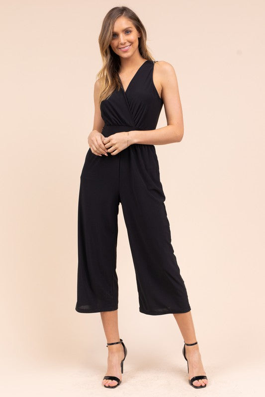 GILLI  CROPPED JUMPSUIT