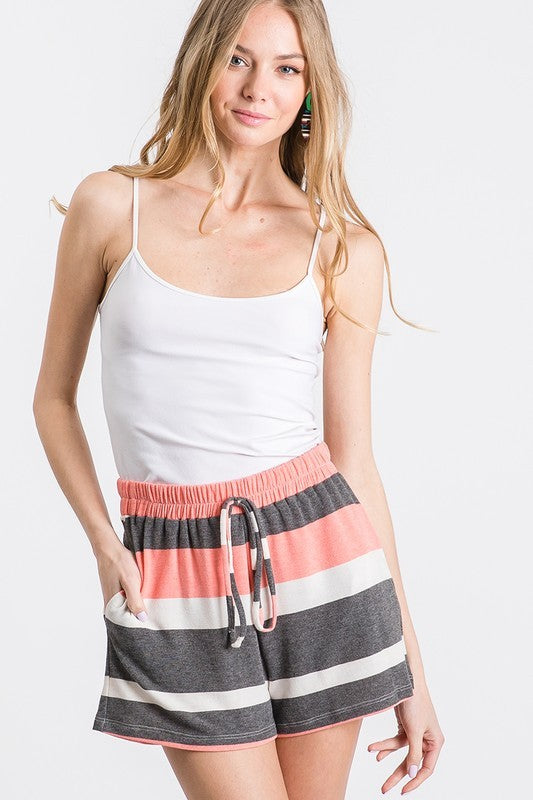 FAITH STRIPED CASUAL SHORT