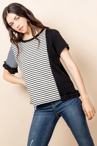 THML ASYMET STRIPED TEE