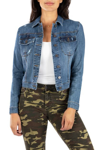 KUT AMELIA JACKET DENIM